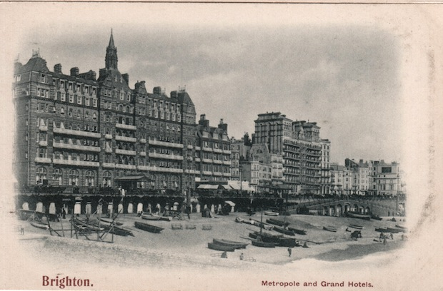 Hotel Metropole Brighton postcard